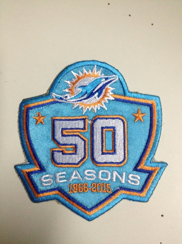 Miami Dolphins 1966-2015 50 Seasons Patch