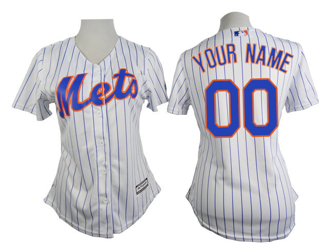 Mets White Customized Women New Cool Base Jersey