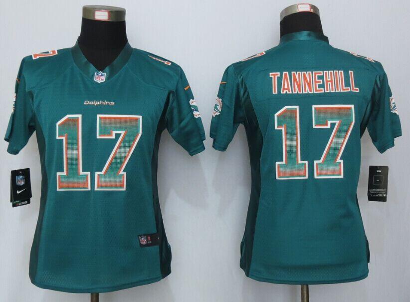 Nike Dolphins 17 Ryan Tannehill Green Pro Line Fashion Strobe Women Jersey