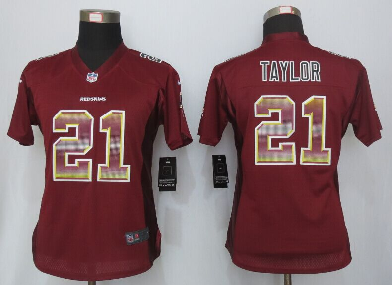 Nike Redskins 21 Sean Taylor Red Pro Line Fashion Strobe Women Jersey