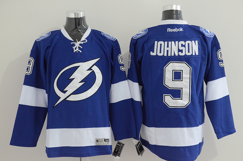 Lightning 9 Johnson Blue Jerseys