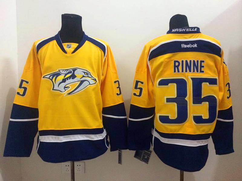 Predators 35 Rinne Yellow Jerseys