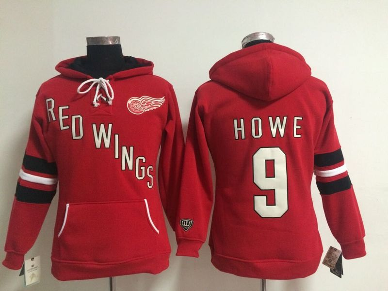 Red Wings 9 Howe Red Women All Stitched Hooded Sweatshirt