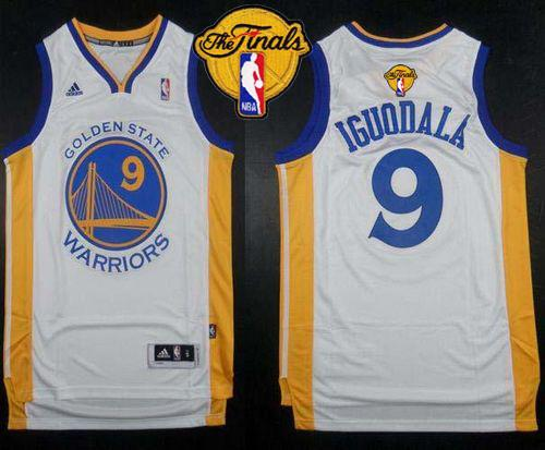 Warriors 9 Iguodala White 2015 NBA Finals New Rev 30 Jersey