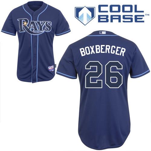 Rays 26 Boxberger Dark Blue Cool Base Jerseys