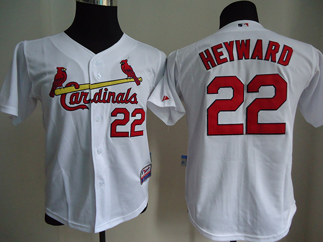 Cardinals 22 Jason Heyward White Youth Jersey