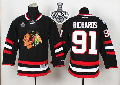 Blackhawks 91 Brad Richard Black 2015 Stanley Cup Jersey