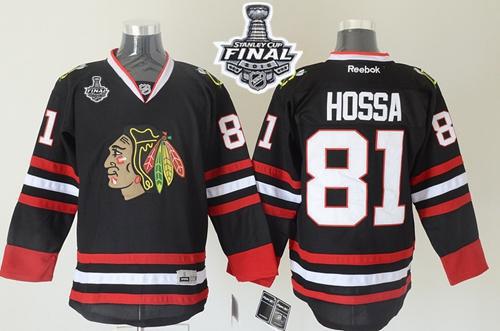 Blackhawks Marian Hossa Black 2015 Stanley Cup Jersey