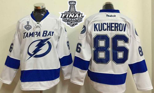 Lightning 86 Nikita Kucherov White 2015 Stanley Cup Jersey