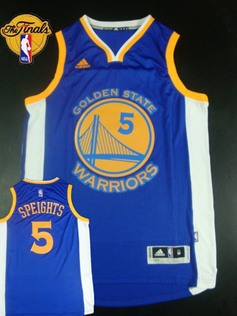 Warriors 5 Speights Blue 2015 NBA Finals New Rev 30 Jersey