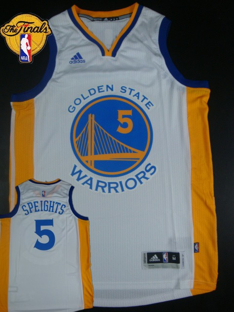 Warriors 5 Speights White 2015 NBA Finals New Rev 30 Jersey