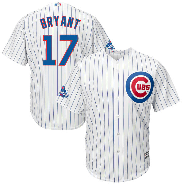 Cubs 17 Kris Bryant White 2016 World Series Champions New Cool Base Jersey