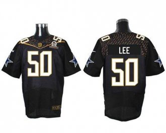 Nike Cowboys 50 Sean Lee Black 2016 Pro Bowl Elite Jersey