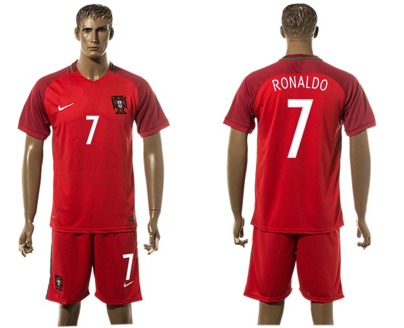 Portugal 7 RONALDO Home UEFA Euro 2016 Soccer Jersey