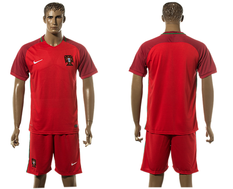 Portugal Home UEFA Euro 2016 Soccer Jersey
