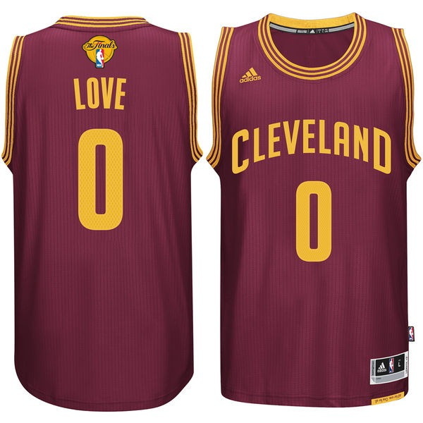 Cavaliers 0 Kevin Love Burgundy 2016 NBA Finals Swingman Jersey