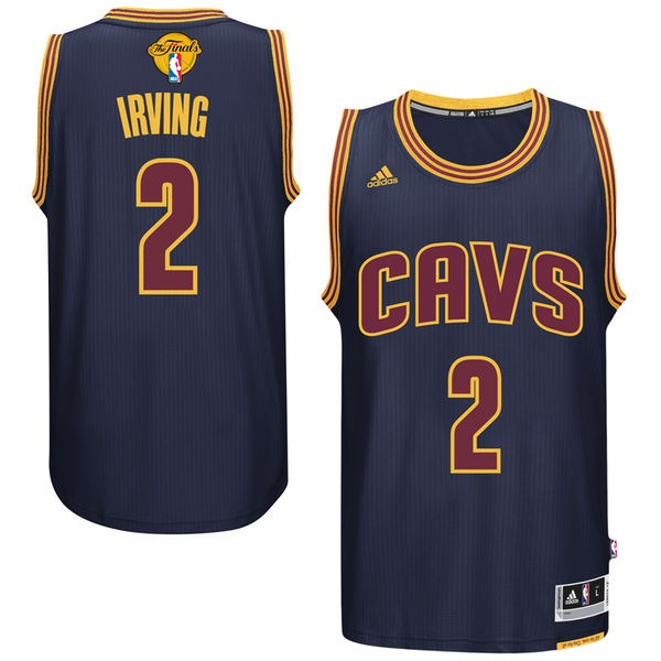 Cavaliers 2 Kyrie Irving Navy 2016 NBA Finals Swingman Jersey