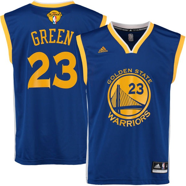 Warriors 23 Draymond Royal White 2016 NBA Finals Swingman Jersey