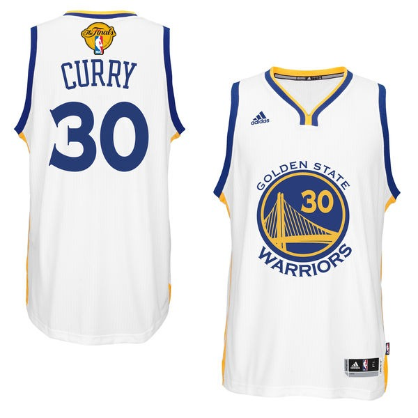 Warriors 30 Stephen Curry White 2016 NBA Finals Swingman Jersey