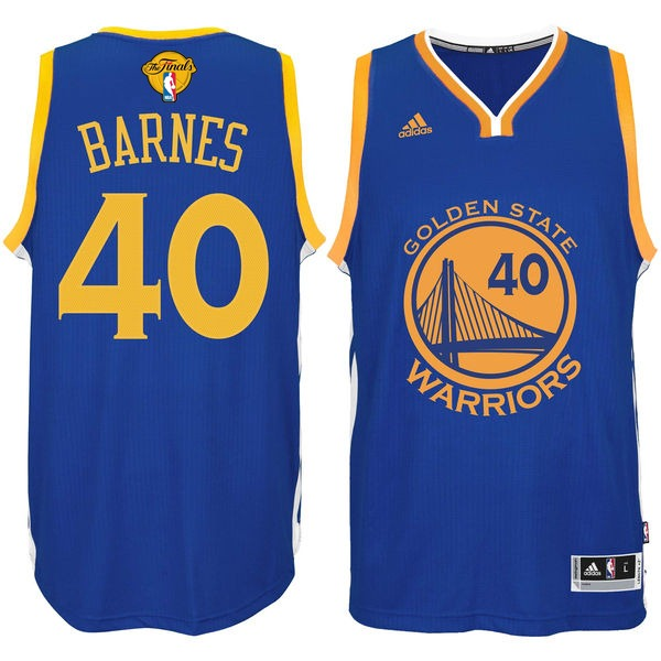 Warriors 40 Harrison Barnes Royal 2016 NBA Finals Swingman Jersey