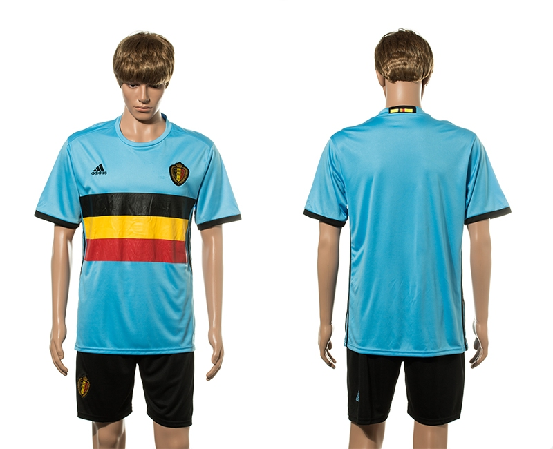 Belgium Away UEFA 2016 Customized Soccer Jersey