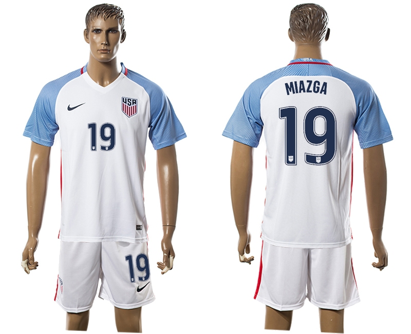 2016-17 USA 19 MIAZGA Home Soccer Jersey