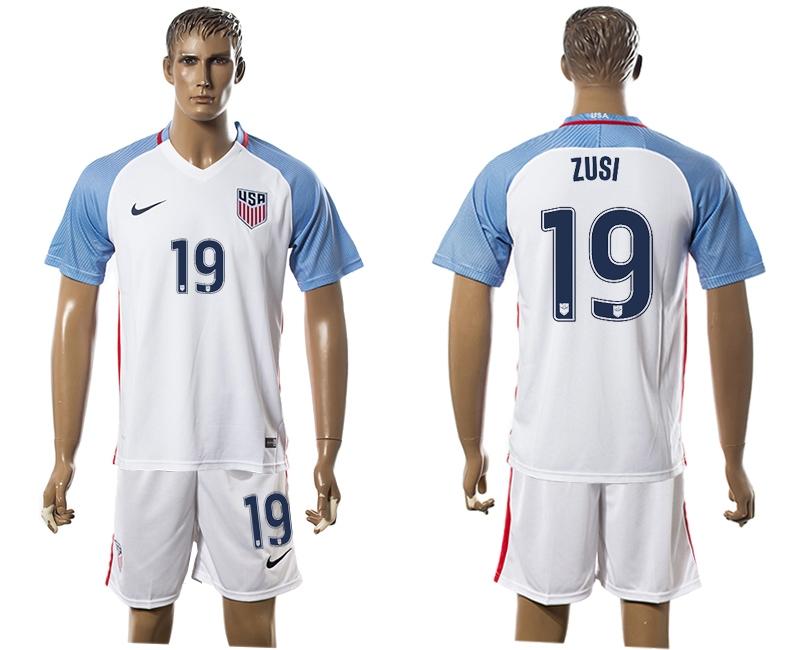 2016-17 USA 19 ZUSI Home Soccer Jersey