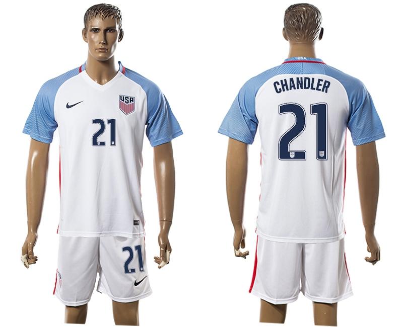 2016-17 USA 21 CHANDLER Home Soccer Jersey