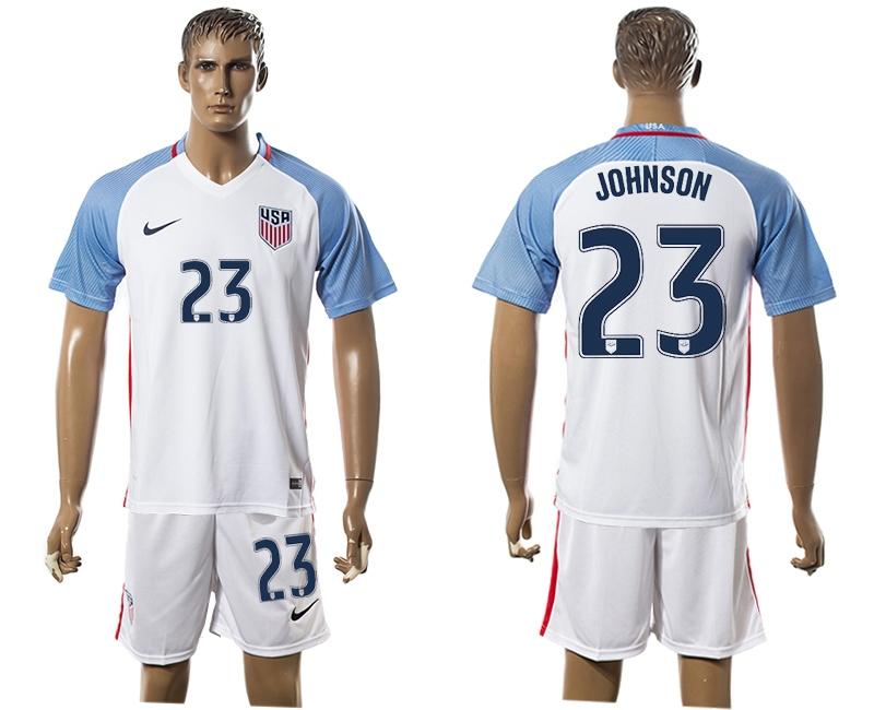 2016-17 USA 23 JOHNSON Home Soccer Jersey