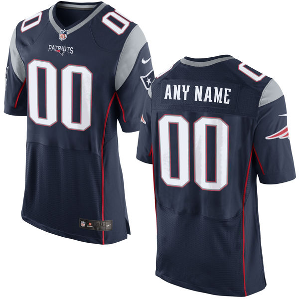 Nike New England Patriots Navy Men's Custom Elite Jersey