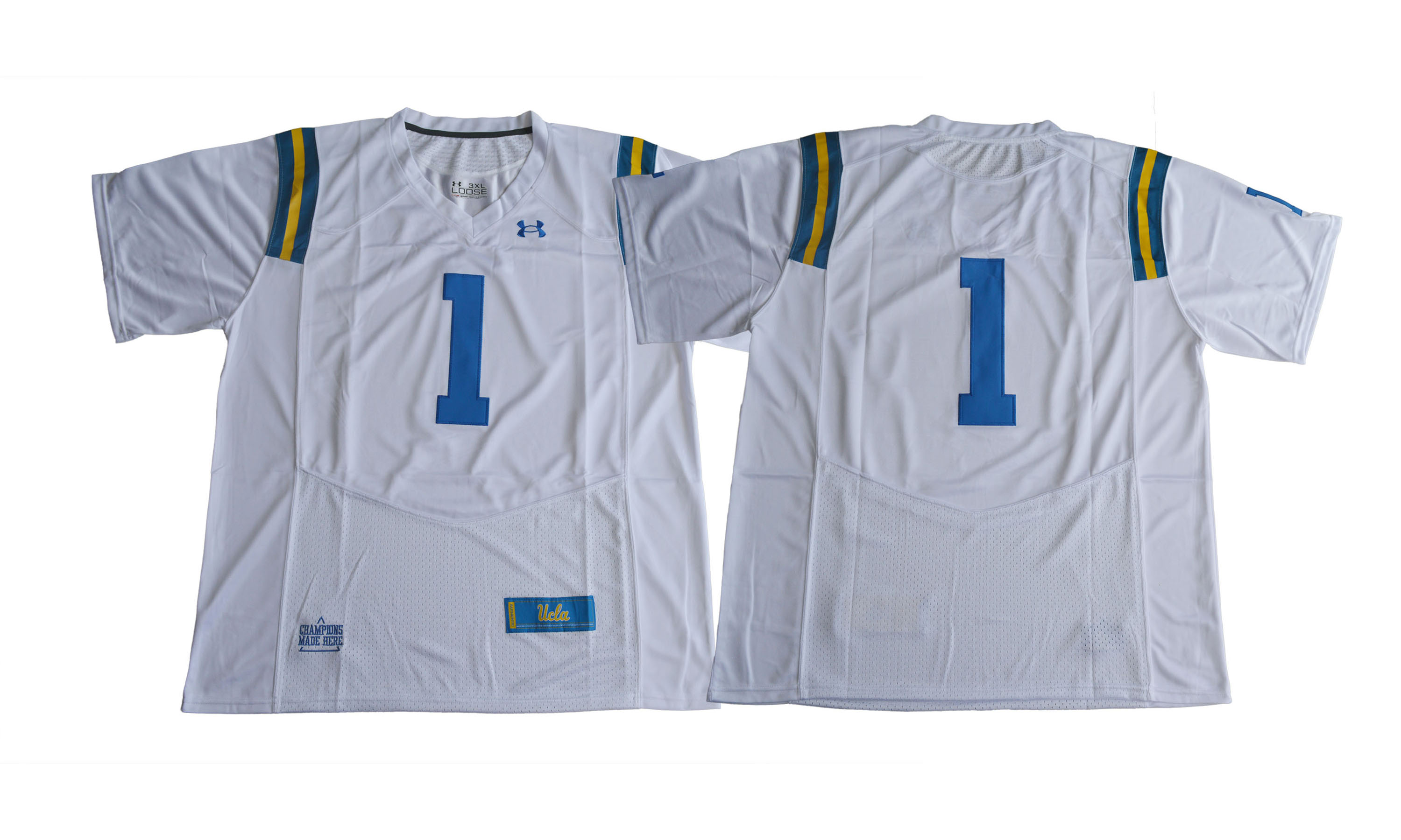 UCLA Bruins #1 White College Football Jersey