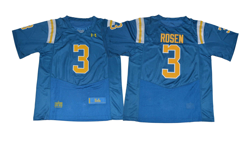 UCLA Bruins 3 Josh Rosen Blue College Football Jersey