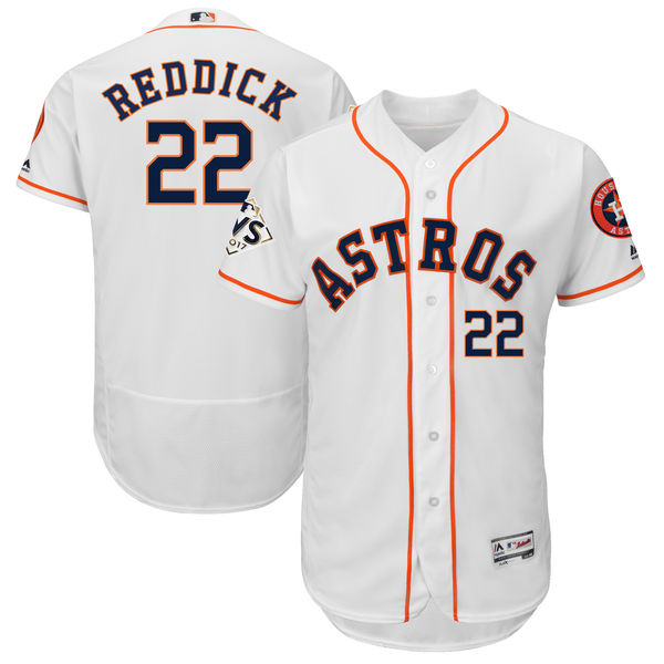 Astros 22 Josh Reddick White 2017 World Series Bound Flexbase Player Jersey