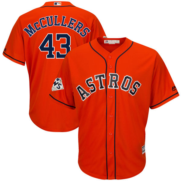 Astros 43 Lance McCullers Jr. Orange 2017 World Series Bound Cool Base Player Jersey