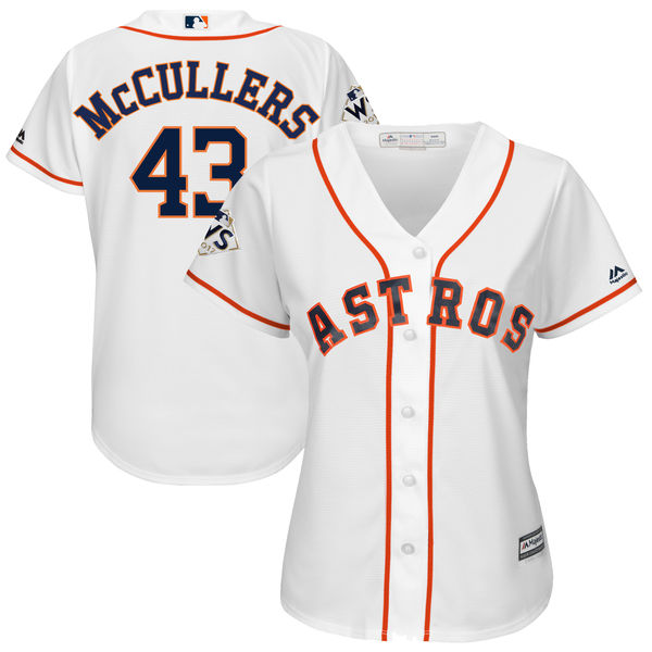 Astros 43 Lance McCullers Jr. White Women 2017 World Series Bound Coolbase Player Jersey