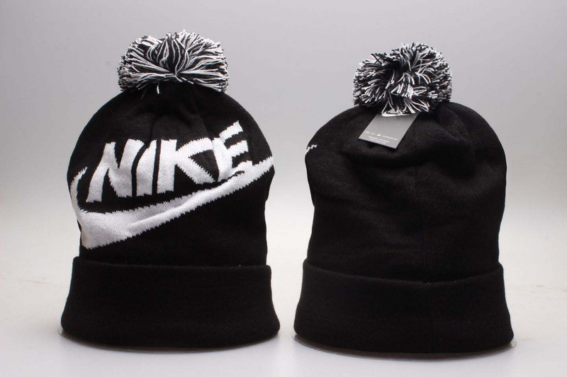 Nike Logo Black Knit Hat YP