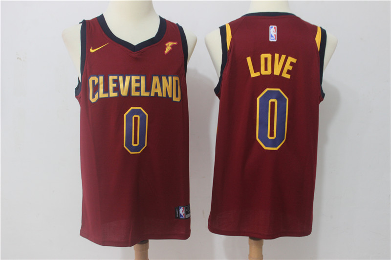 Cavaliers 0 Kevin Love Red Nike Swingman Jersey