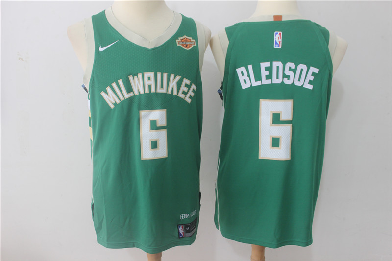 Bucks 6 Eric Bledsoe Green Nike Authentic Jersey
