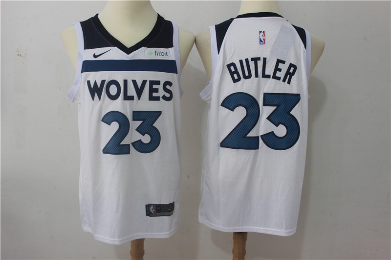 Timberwolves 23 Jimmy Butler White Nike Swingman Jersey