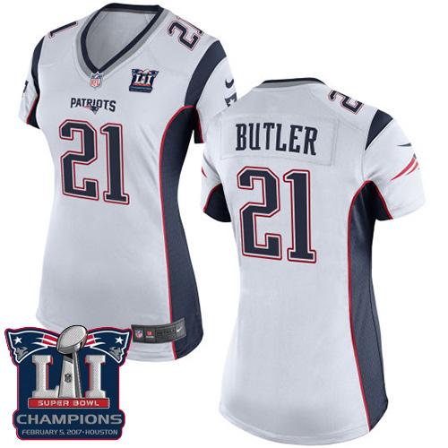 Nike Patriots 21 Malcolm White 2017 Super Bowl LI Champions Women Game Jersey