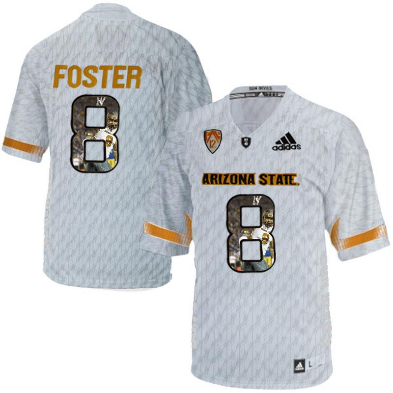 Arizona State Sun Devils 8 D.J. Foster Ice Team Logo Print College Football Jersey