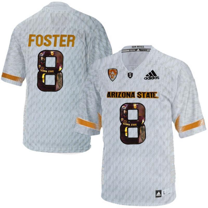 Arizona State Sun Devils 8 D.J. Foster Ice Team Logo Print College Football Jersey11