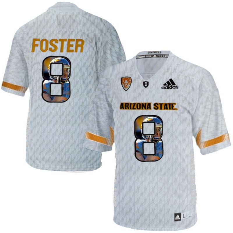 Arizona State Sun Devils 8 D.J. Foster Ice Team Logo Print College Football Jersey2