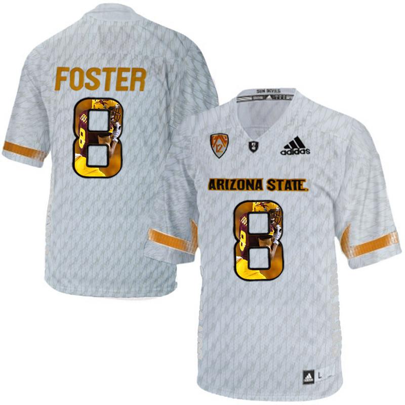 Arizona State Sun Devils 8 D.J. Foster Ice Team Logo Print College Football Jersey4