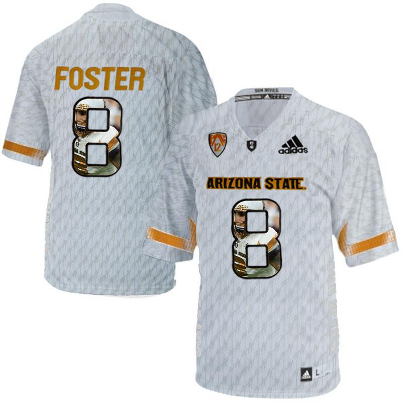 Arizona State Sun Devils 8 D.J. Foster Ice Team Logo Print College Football Jersey8