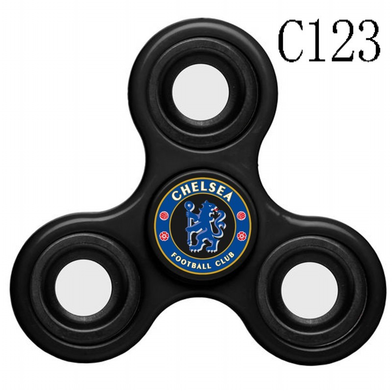 Chelsea Team Logo Black 3 Way Fidget Spinner