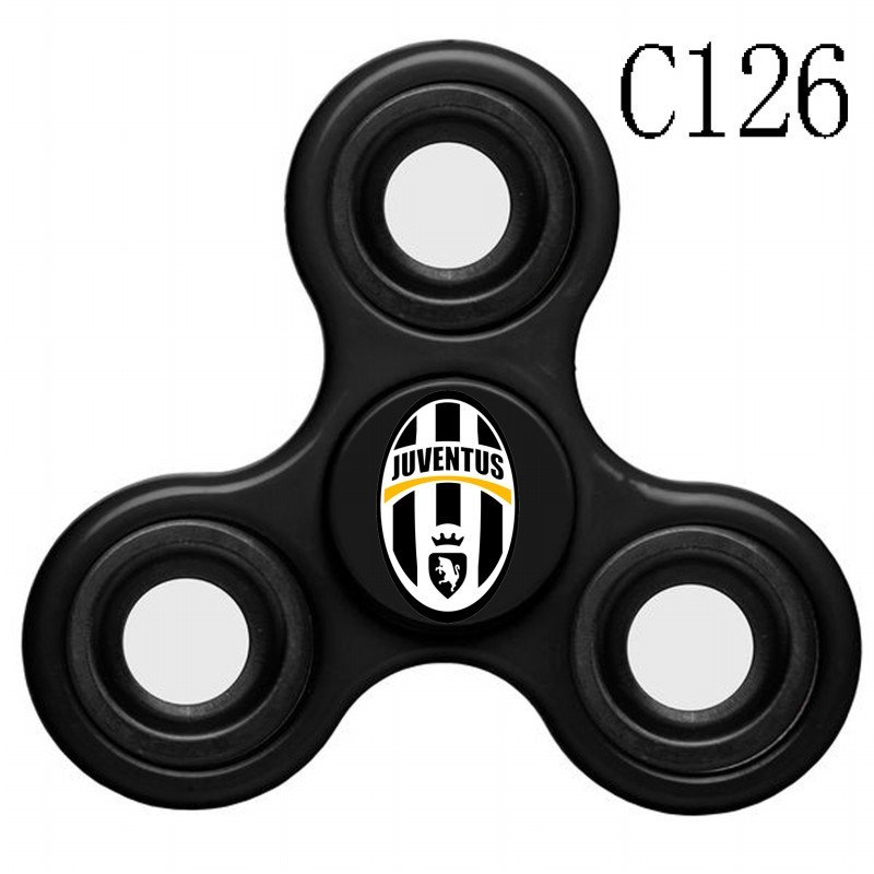 Juventus Team Logo Black 3 Way Fidget Spinner