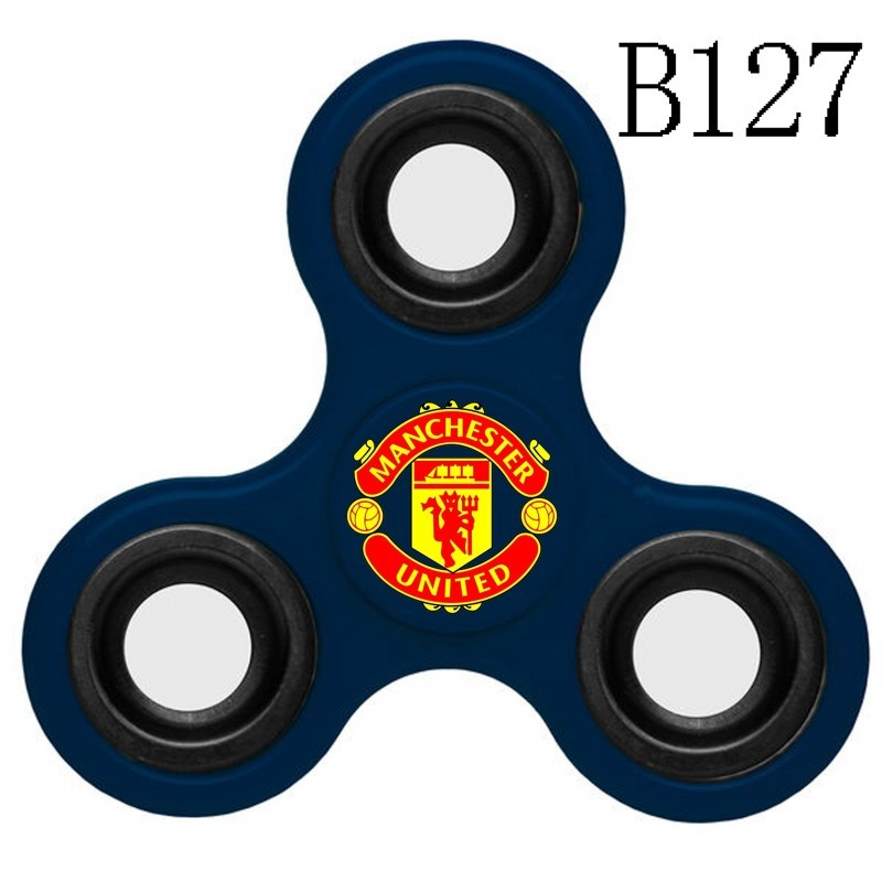 Manchester United Team Logo Navy 3 Way Fidget Spinner