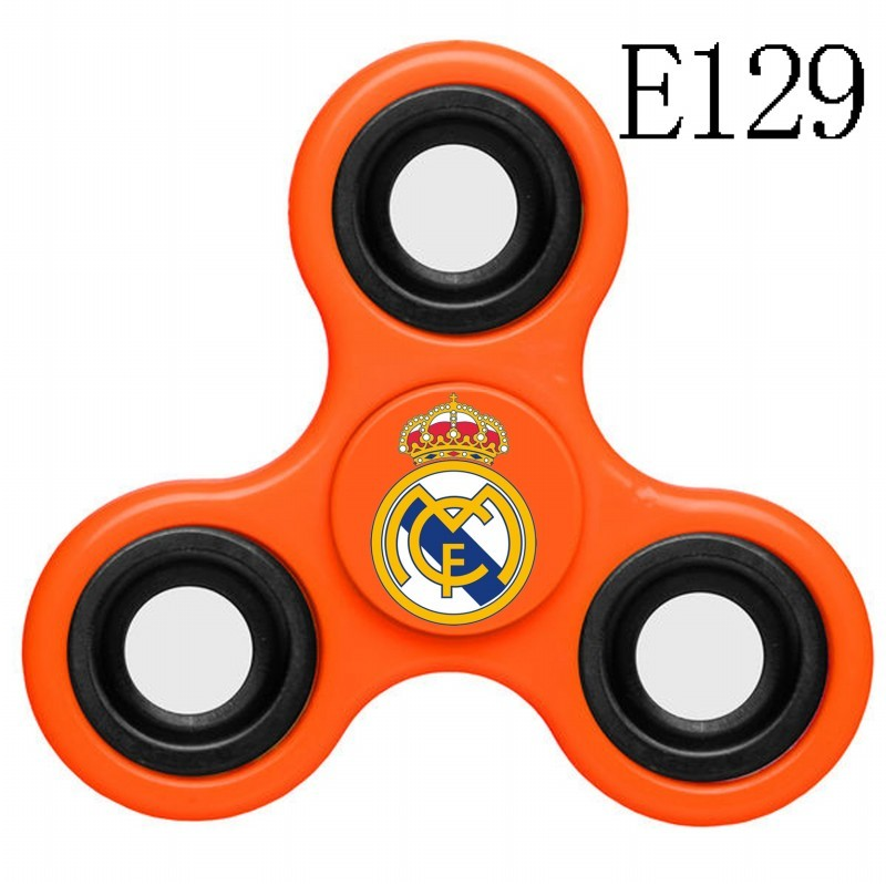 Real Madrid Team Logo Orange 3 Way Fidget Spinner