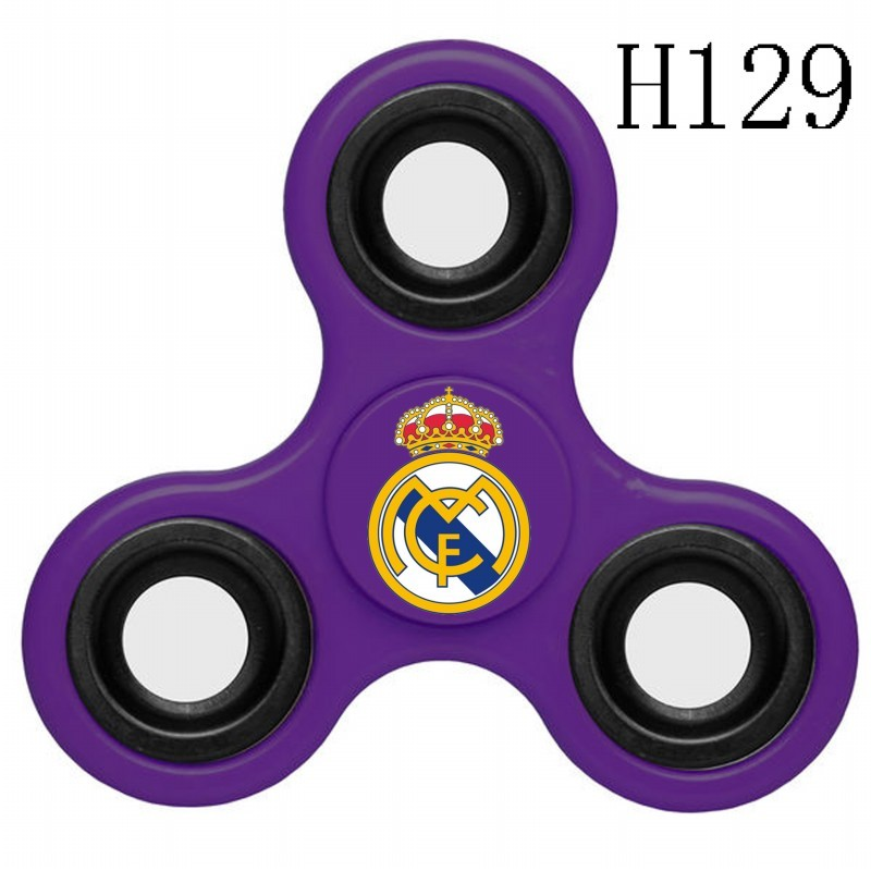Real Madrid Team Logo Purple 3 Way Fidget Spinner